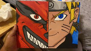 Kurama and Naruto paint, glow in the dark eyes for Sale in US