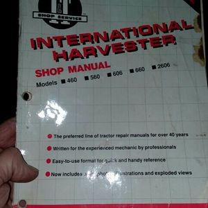 International Harvest Tractor Manual Models460,560,606,660,2606. for Sale in Valparaiso, IN