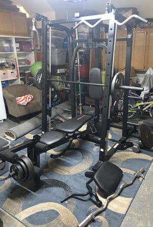 Weider 8500 Smith Machine and Weights for Sale in Corona, CA