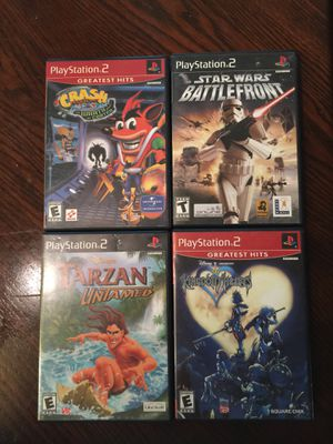 Crash bandicoot the wrath of vortex, Star Wars battlefront, Tarzan untamed, Disney Kingdom Hearts. Playstation 2 for Sale in Miami, FL