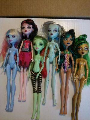 Mattel Monstor Dolls highly collectable. All for 30$ for Sale in Denver, CO