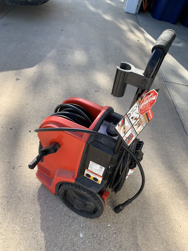 Snap on power washer