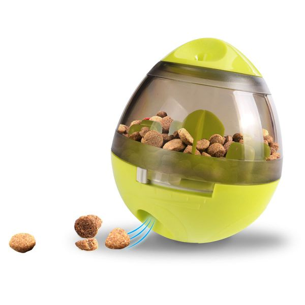Dog treat dispensing ball toy, interactive, increase IQ