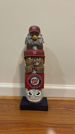 Washington nationals wood statue for Sale in Herndon, VA