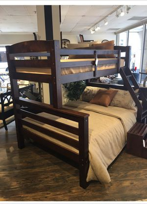 Twin Full Wood Bunkbed Bed! Brand New In Box! $50 Down Takes It Home Today! for Sale in Newport News, VA
