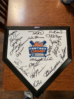 Autographed baseball home plate for Sale in Choctaw Beach, FL