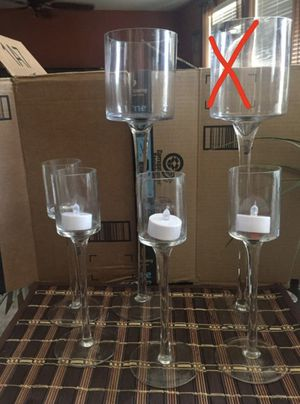 Glass candle holders for Sale in Corona, CA
