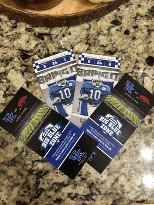 50 yard line tickets & big blue zone pregame party for Sale in Lexington, KY