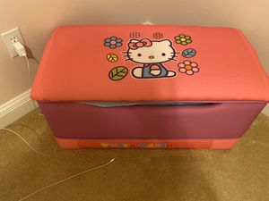 Toy storage box and hello kitty clock for Sale in Columbia, MO