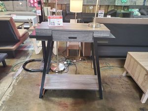 Console, Distressed Grey & Black for Sale in Midway City, CA
