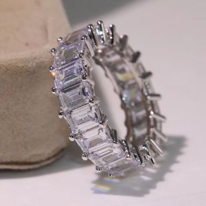 Unisex 925 Sterling Silver Multi Square cut Diamond Ring for Sale in Las Vegas, NV