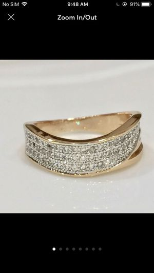 Gold filled paved artificial diamonds ring for Sale in Silver Spring, MD