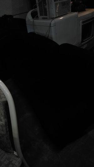 Black suede futon for Sale in Hampton, VA