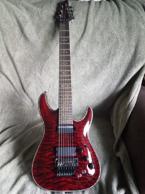 Schecter Hellraiser C-7 with Floyd Rose, sustainiac' Black Cherry for Sale in Moyock, NC