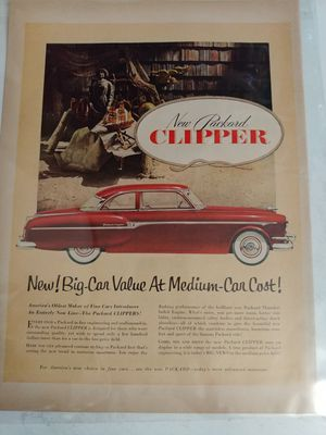 Used, Vintage Car Ad. Packard Clipper 1953. for Sale for sale  Ocklawaha, FL