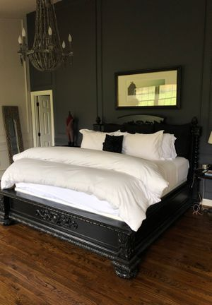 King size bed frame Restoration Hardwrare for Sale in Leesburg, VA