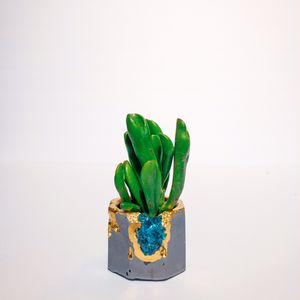 Crystals Succulent Pot - Cactus Planter - Air Plant Holder - Aloe Vera Plant Pot - Small Plant Pot - Small Planter for Sale in Miami, FL