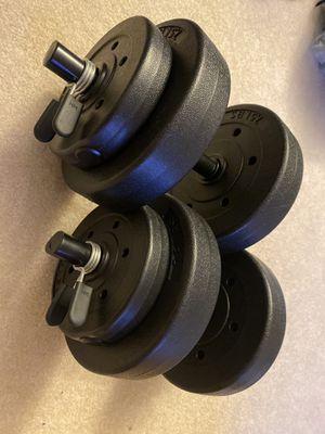 Pair of adjustable dumbbells 20lbs each for Sale in Kirkland, WA