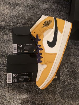 "NEW 🔥 Nike Air Jordan 1 Mid ""Lakers"" Sz. 10 & 10.5 for Sale in Alexandria, VA"