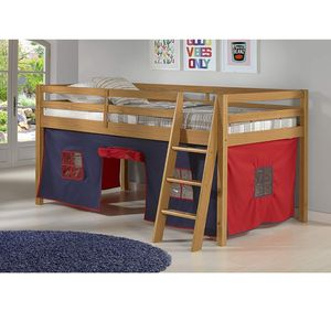 Kids Twin Loft Bed with Curtain Tent for Boys, Unisex for Sale in Corona, CA