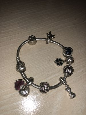 Pandora Bracelet with 8 charms for Sale in Rockville, MD