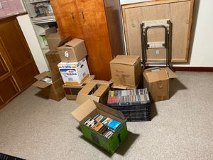 10+ boxes of CDS & DVDS for Sale in Queens, NY
