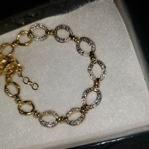 18K Yellow Gold Over Sterling Silver 0.570ctw Diamond 7.5 Inch for Sale in Whittier, CA