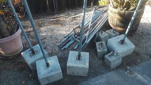 Canopy pipes and weights (2 sets) for Sale in El Cajon, CA