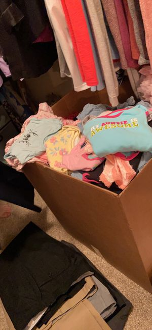 I also have a big box of little girl clothes 0-6 months and a few bigger. Then some maternity clothes if anybody wants to come look before I sell the for Sale in Frisco, TX