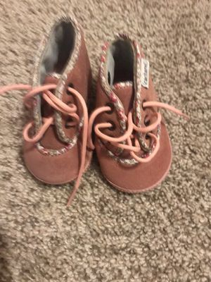 Baby girl boots made in Italy brand new size 0-3 months for Sale in Tacoma, WA