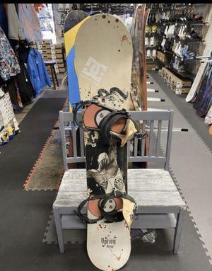Option 155 snowboard with burton large snowboard Bindings for Sale in Las Vegas, NV