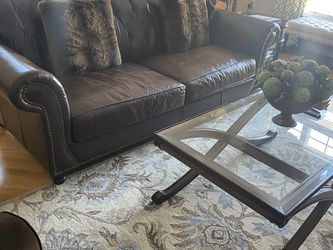Brown Leather Couch for Sale in North Andover,  MA