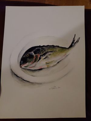 Watercolor painting, fish,11x15'' for Sale in Albuquerque, NM
