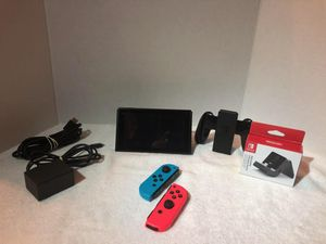 Nintendo Switch, Color Red & Blue in good condition comes with everything you see in the pictures for Sale in Hollywood, FL