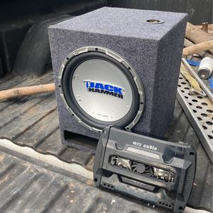 "Mtx Jackhammer 12"" Subwoofer And Amp for Sale in Lakeside, CA"