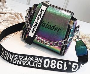 Women's Holographic Shoulder Bag with Chains for Sale in McRae, GA