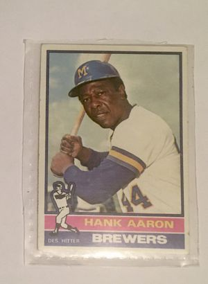 1976 Topps 550 Hank Aaron trading card for Sale in Laurel, MD