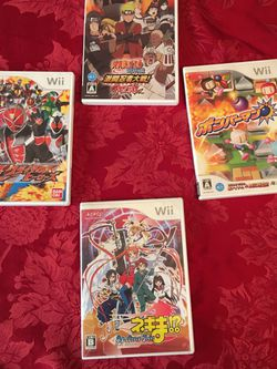 Wii Japanese Import Lot 4 Games for Sale in Cupertino,  CA