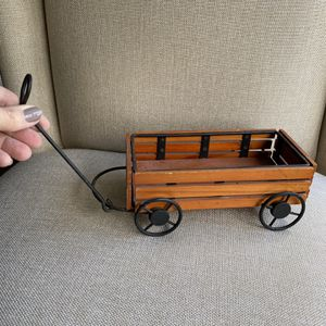 Vintage Miniature Decorative Wagon made from Wood and Metal for Sale in Zephyrhills, FL