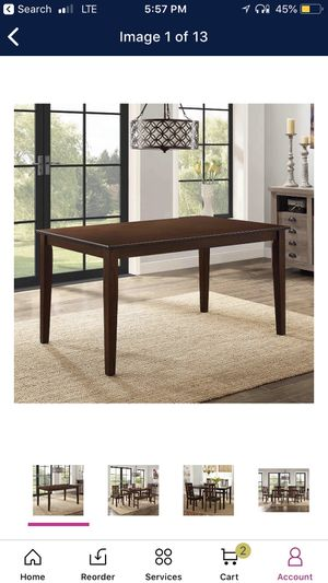 Dining table wood new brown for six people furniture for Sale in Poway, CA
