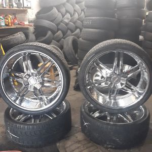 Donz Corleone chrome universal rims for Sale in Baltimore, MD