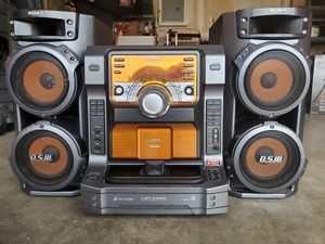 Sony I-Pod ready 560 Watt Stereo System with Cool Steam bluetooth adapter included. for Sale in Tracy, CA