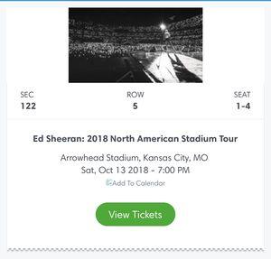 Ed Sheeran @ Arrowhead! for Sale in Newton, KS