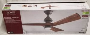 Home decoration Fortston 60 in. LED Indoor Espresso Bronze Ceiling Fan with Light Kit and Remote Control for Sale in Rolling Meadows, IL