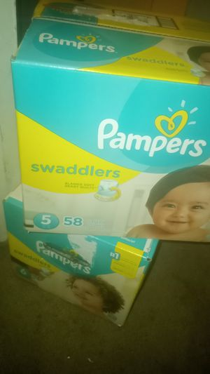 Size 5 and 6 pampers for Sale in Triangle, VA