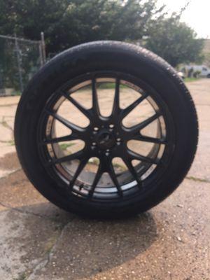 Black 20' rims and tires for Sale in Philadelphia, PA