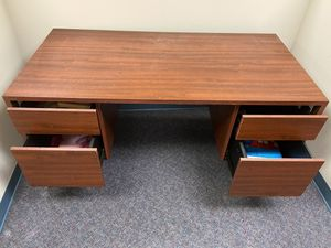 Office desk, 5 feet wide in good condition. I have six of these for $50 each. for Sale in Silver Spring, MD
