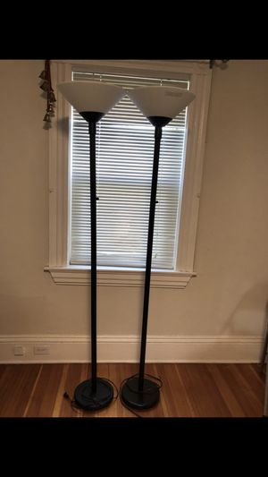 Moving sale! Set of 2 floor lamps. Selling for $25 for set. for Sale in Winchester, MA