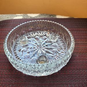 Princess House Lead Crystal 3 Taper Candle Holder - Beautiful Center for Sale in Clearwater, FL