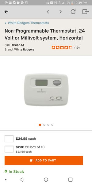 non programmable thermostat for Sale in North County, MO